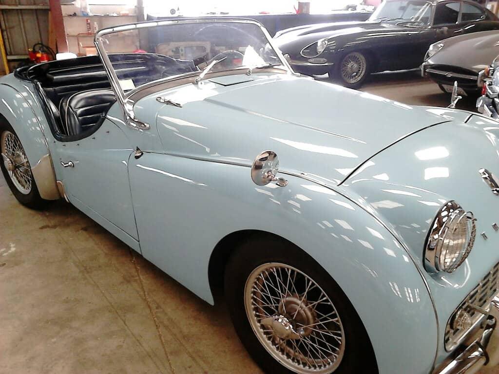 Triumph TR3 A 1958 bleue