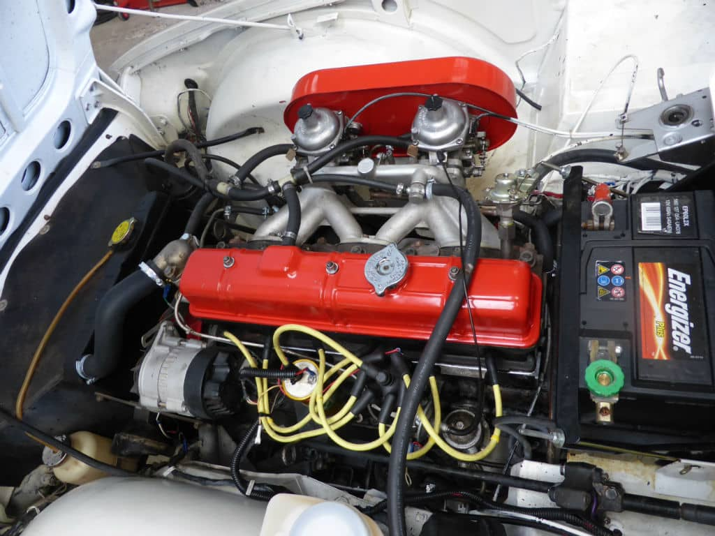 Triumph TR6 1973 Blanche