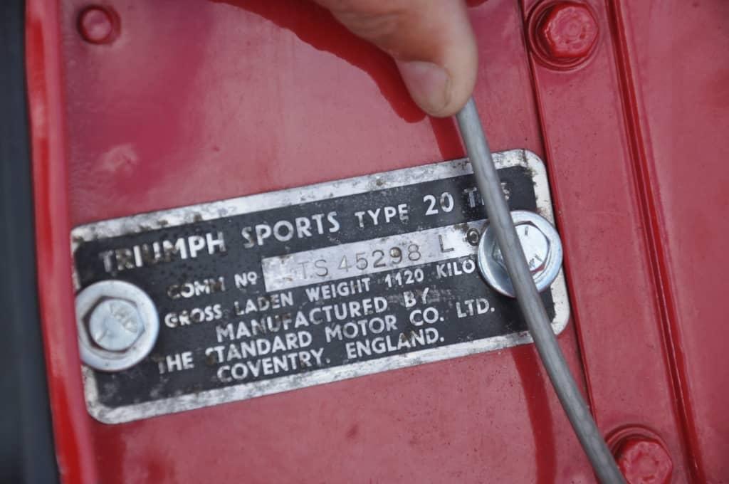 Triumph TR3 A ref 289
