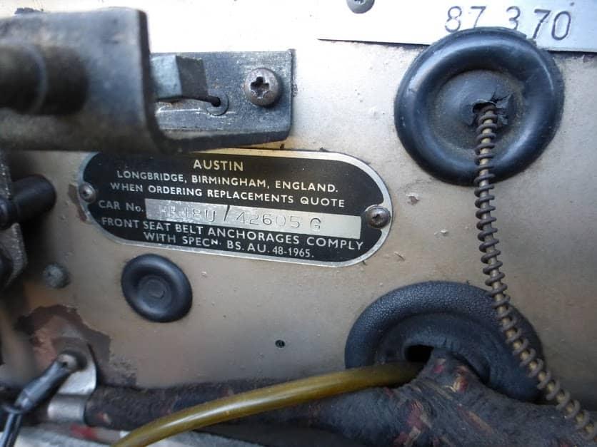 AUSTIN HEALEY BJ8 MKIII PHASE 2 1967 REF 300